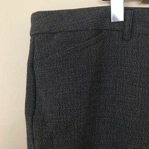 RICKI'S Twill Pattern Dark Grey Dress Pants